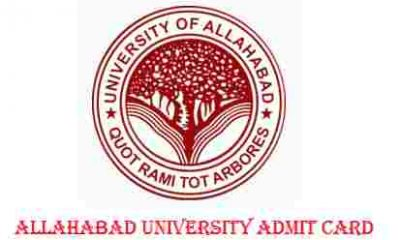 Allahabad University Admit Card 2017 download