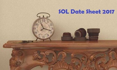 SOL Date sheet of BA-Hon-2017